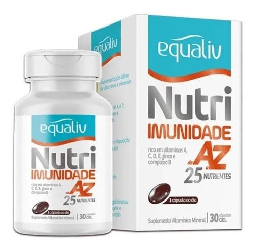 Imagem 1 de 3 de Equaliv Nutri Imunidade De A-z 25 Nutrientes 30 Cap