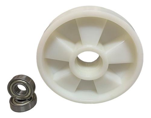 Imagem 1 de 3 de Roda Direcional Paleteira Paletrans Tm 180x50 Com Rolamento