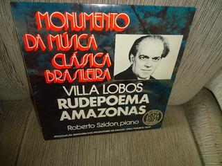 Lp Monumento Da Musica Clássica Brasileria-villa Lobos