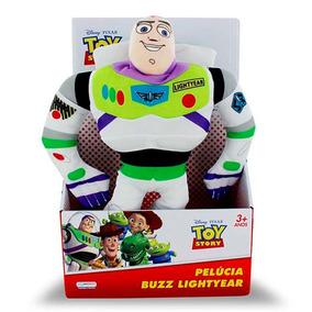 Boneco Pelucia 30cm Buzzlightyear Toy Story Disney Multikids