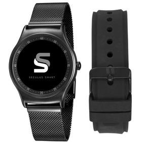 Relógio Seculus Smartwatch Pulseira Metal/silicone 79001mpsv