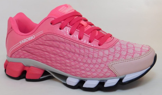 Tenis Para Dama Rosa/fiusha Cod.6321