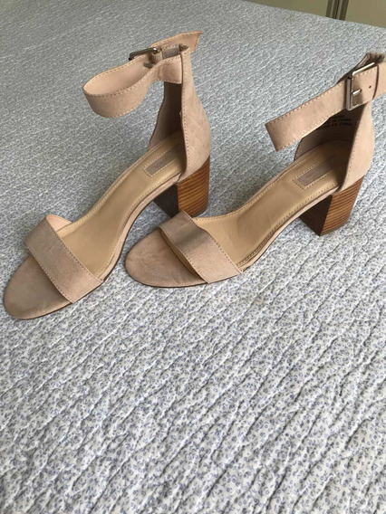 Sandalias Forever 21 , Nuevas, Color Natural. Talle 37.5