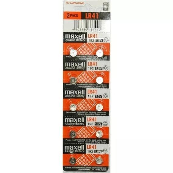 Bateria Maxell Lr41 - Pack Com 8 Baterias