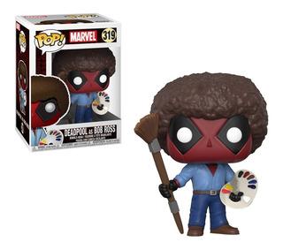 Figura Funko Pop! Marvel Deadpool As Bob Ross 319 Colección