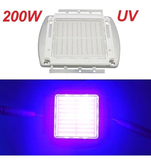Chip Led Uv 200w Ultra Violeta 395-400nm +fonte 10a 35v+past
