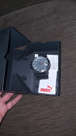 Relógio Puma Ultrasize Original, Prata Com Preto