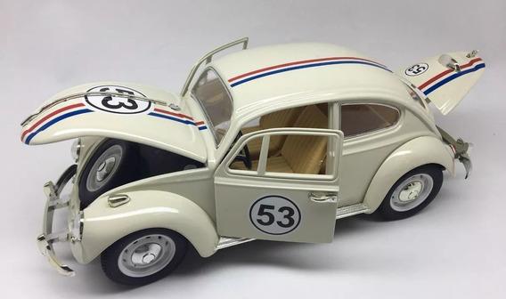 Miniatura Colecionador Fusca Herbie 53 Escala 1/18 22cm Novo