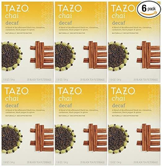 Tazo Chai Descafeinado, Té Con Especias Negro, 20-count Bols