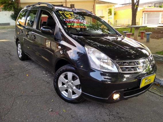 Nissan Grand Livina Sl Aut 1.8 Flex 2012 Preta Completão