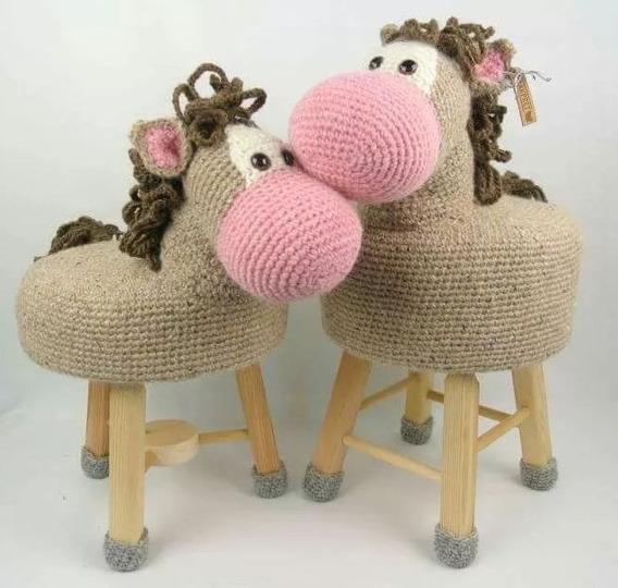 Patrones 17 Bancos Animalitos Amigurumis Crochet(ingl)+ Reg.