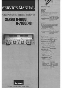 Esquema Sansui G6000 G 6000 G 7000 Em Pdf Alta Resoluç