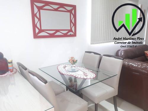 Sobreposta Alta Com 2 Dormitórios À Venda, 77 M² - Embaré - Santos - 194