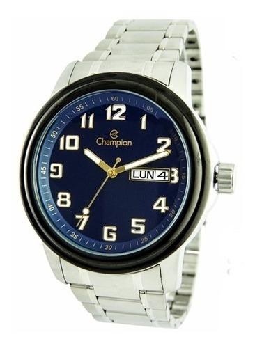 Relógio Masculino Prata Champion Ca30927f Frete Grátis