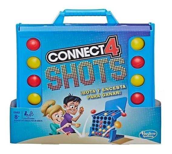 Juego Mesa Conncect 4 Shots Tira Y Encesta Original Hasbro