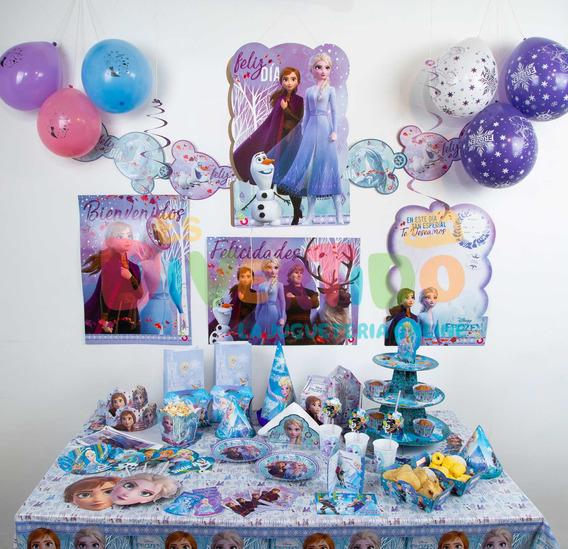 Combo Cumpleaños Frozen 10 Invitados Cotillón Otero