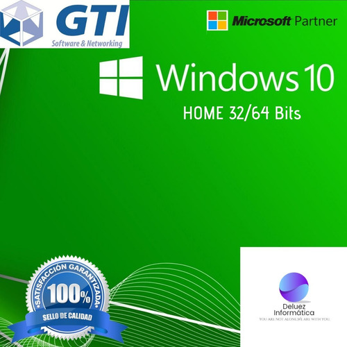 Windows 10 Home 32/64 Bits  Envió Inmediato