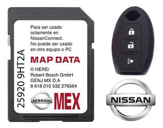 Tarjeta Nissan Gps Original Actualizada + Funda Llave Full
