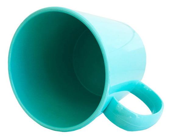 12 Caneca Plastica Aaa Resinada Sublimação 325ml + Culote