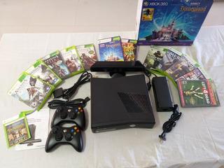 Xbox 360 Original 4gb + 2 Joystic + Kinect + 12 Juegos Orig.
