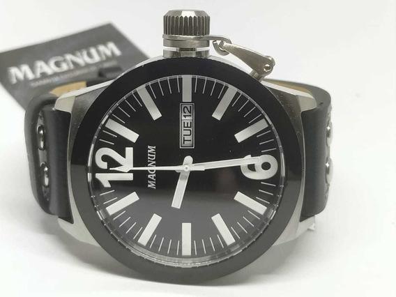 Relógio Original Magnum Pulseira Em Couro Ma31533c - Nfe
