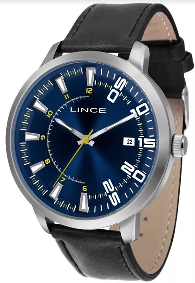 Relógio Masculino Lince(orient)pulseira De Couro Mrc4355s