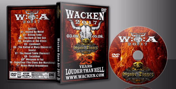 Dvd Grave Digger Live Wacken 2017