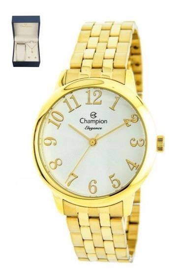 Kit Relógio Feminino Champion Elegance Cn26162w