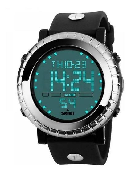 Relógio Digitalmasculino Skmei 1172 Preto E Prata