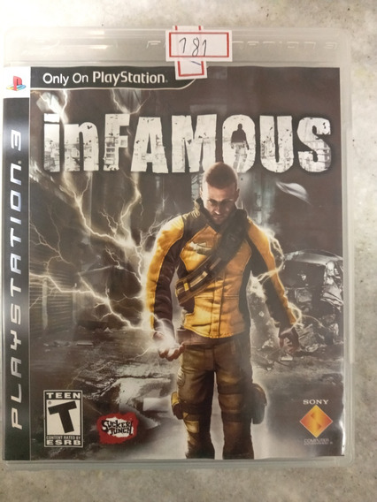 Jogo Sony Ps3 Infamous Lote181