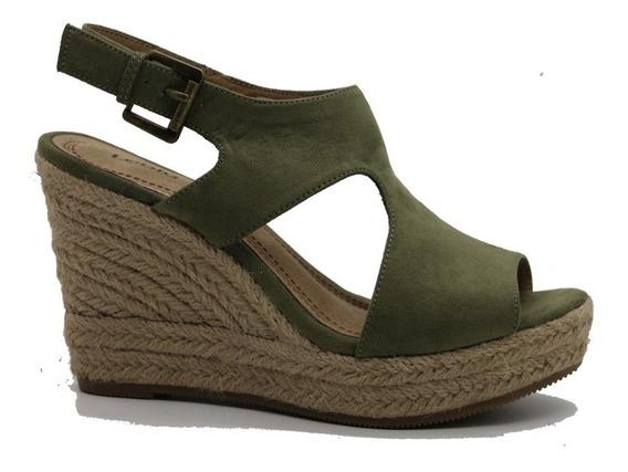Zapatos Sandalias Mujer Dama Taco Chino Verde Leblu Z144