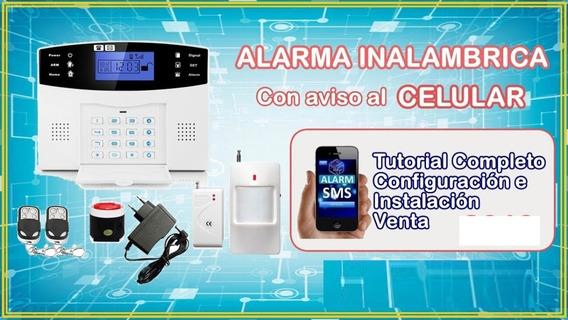 Kit Alarma Domiciliaria Inalambrica Gsm Español Zdas 350
