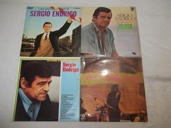 Lote 4 Lps Disco De Vinil - Sergio Endrigo