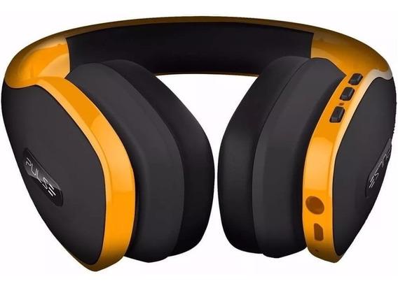 Fone De Ouvido Pulse Headphone Bluetooth Amarelo Ph151