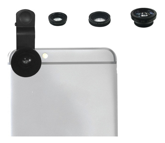 Kit De 3 Lentes Intercambiables Con Clip Para Smartphone