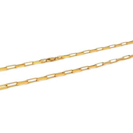 Corrente Cartier Retangular Com 11gr De Ouro E 60cm