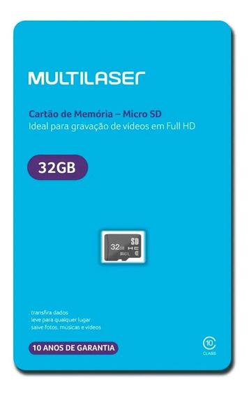 Cartão De Memória Micro Sd 32gb Classe 10 Multilaser Veloz