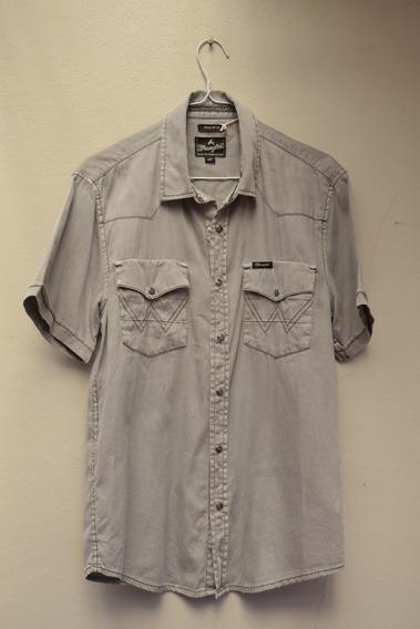 Camisa De Jean Manga Corta Gris - Wrangler - Talle S
