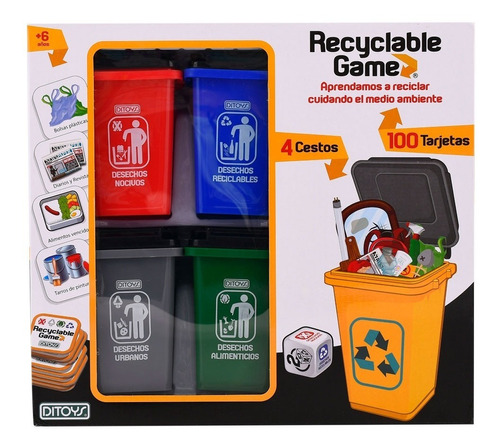 Juego De Reciclaje Recyclable Game