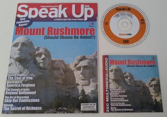Revista Speak Up 260 Mount Rushmore Para Estudar Inglês.