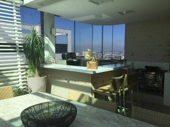 Apartamento Duplex Com 4 Suites ( Piscina Privativa - E. Gourmet + Deck ) À Venda, 420 M² Por R$ 2.226.000 - Jardim Do Mar - São Bernardo Do Campo/sp - Ad0017