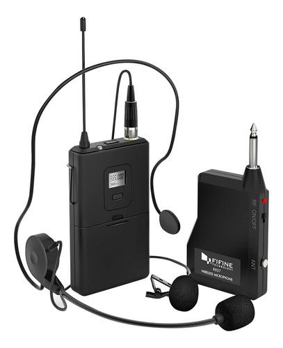 Imagen 1 de 7 de Microfono Inalambrico Con Auriculares De Diadema Altavoz