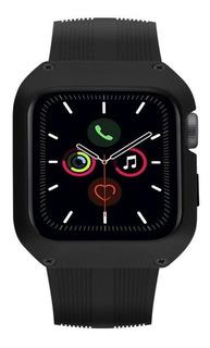 Pulseira Dual Shock Apple Watch 44mm Preta - Gorila Shield
