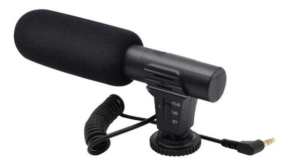 Microfone Profissional Condensador P/ Cameras Dslr Filmadora