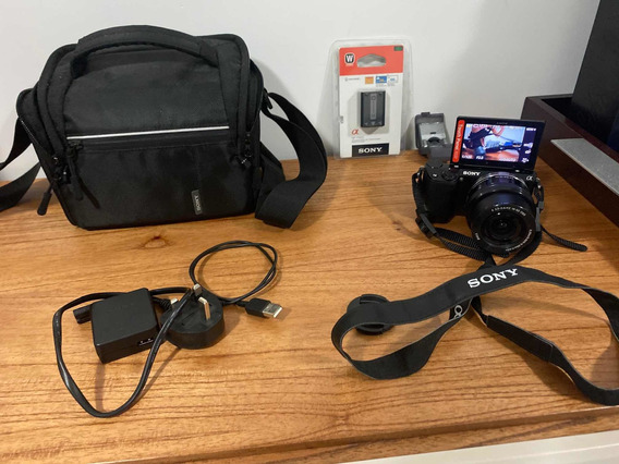 Câmera Sony Nex 5t + Lente 18 - 50 Mm F/3.5-5.6 - Completa