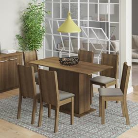 Conjunto Sala De Jantar Celeny Madesa Mesa Com 6 Cadeiras
