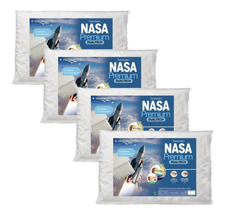 Kit 4 Travesseiros Nasa Premium Dual Tech Original