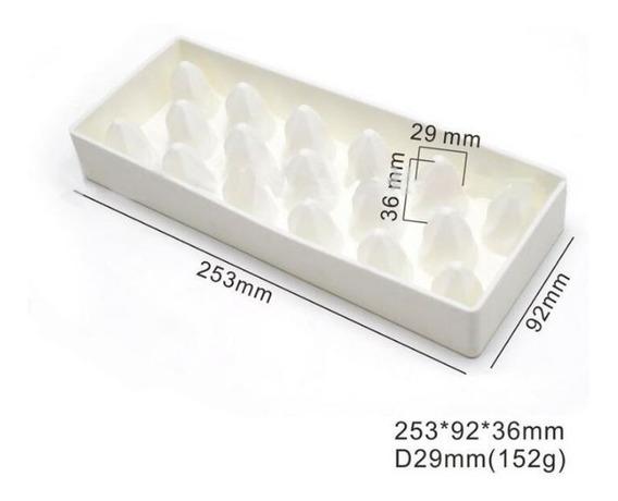 Molde Silicone 17 Cavidades Ideal Para Sobremesas Francesas