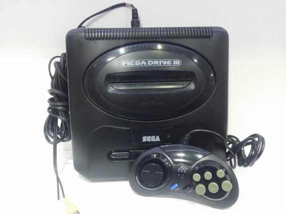 Sega Mega Drive 3 Genesis Com 1 Contole E Jogo De Brinde
