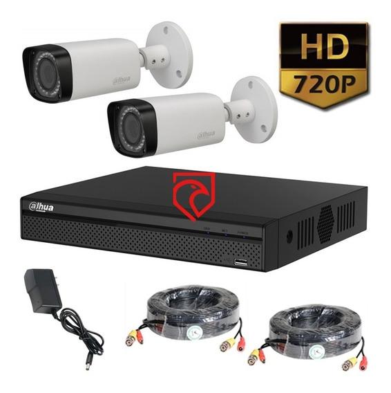 Kit Dvr 4 Seguridad Dahua Xvr1b04 + 2 Cam + Cables Martinez